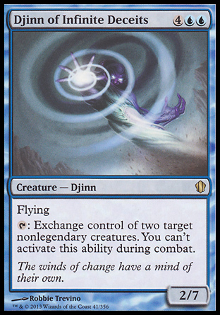 Djinn of Infinite Deceits, Commander 2013