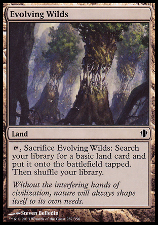 Evolving Wilds, Commander 2013