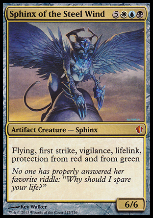 Sphinx of the Steel Wind, Commander 2013