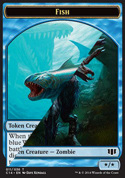 Fish Token / Zombie Token, Commander 2014