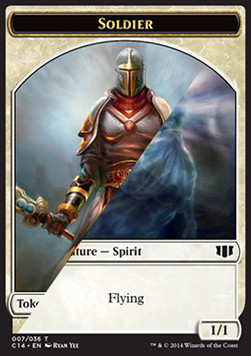 Soldier Token / Spirit Token, Commander 2014