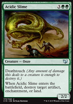 Acidic Slime, Commander 2015
