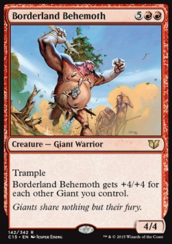 Borderland Behemoth, Commander 2015