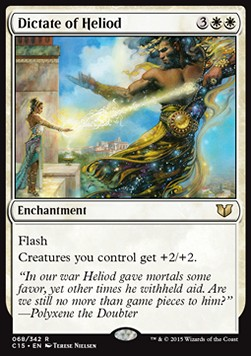 Dictate of Heliod, Commander 2015