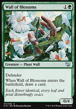 Wall of Blossoms, Commander 2015