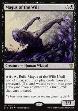 Magus of the Will, Commander 2016