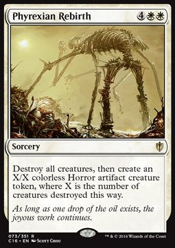 Phyrexian Rebirth, Commander 2016