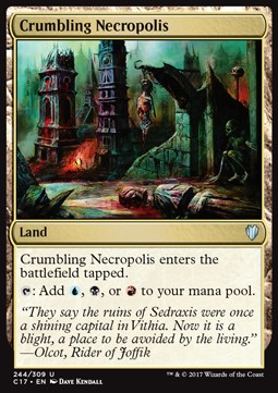 Crumbling Necropolis, Commander 2017