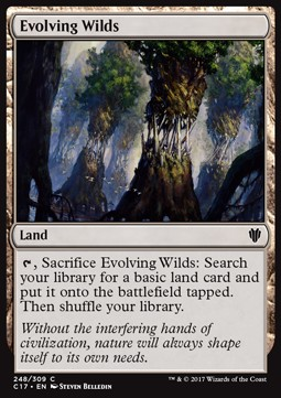 Evolving Wilds, Commander 2017