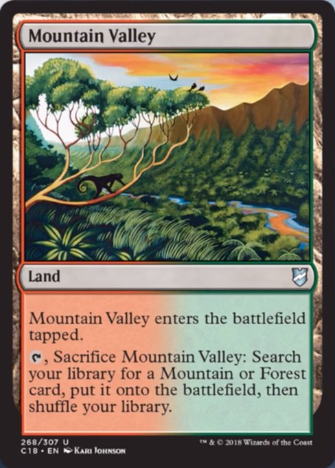 Mountain Valley, Commander 2018