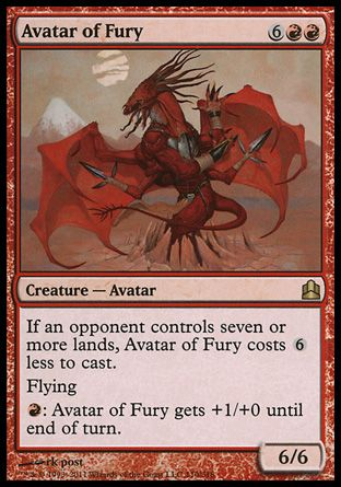 Avatar of Fury, Commander
