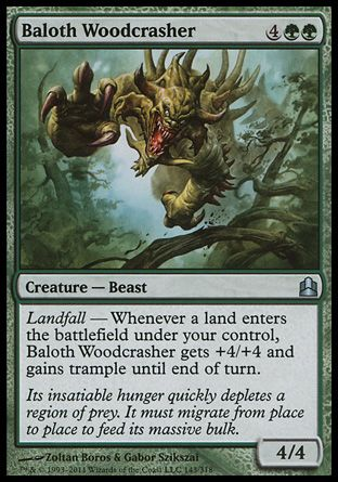 Baloth Woodcrasher, Commander