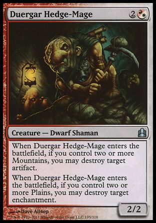 Duergar Hedge-Mage, Commander