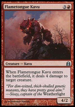 Flametongue Kavu, Commander