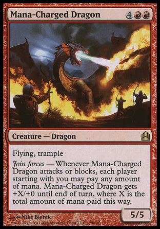 Mana-Charged Dragon, Commander