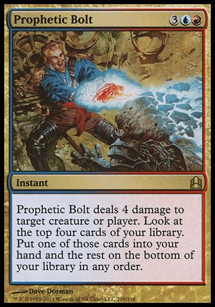Prophetic Bolt, Commander