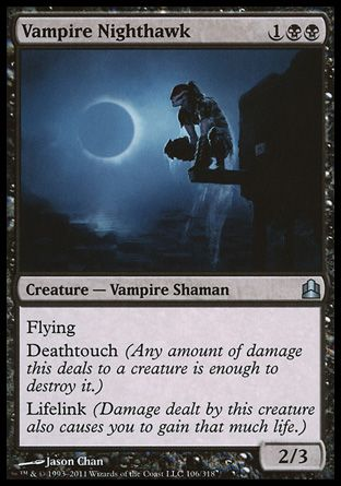 Vampire Nighthawk, Commander