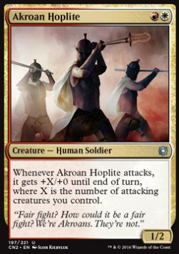 Akroan Hoplite, Conspiracy Take the Crown