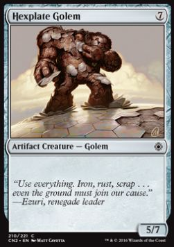 Hexplate Golem, Conspiracy Take the Crown