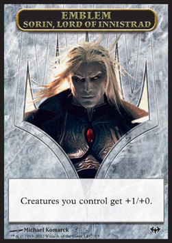 Sorin, Lord of Innistrad Emblem, Dark Ascension
