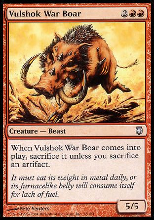 Vulshok War Boar, Darksteel