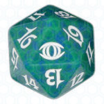 Green Future Sight D20 Die, Dobbelstenen