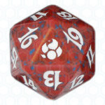 Red Morningtide D20 Die, Dobbelstenen