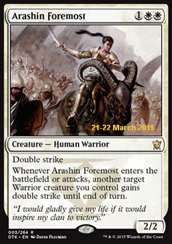 Arashin Foremost, Dragons Of Tarkir Promos