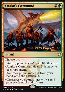 Atarka's Command, Dragons Of Tarkir: Promos