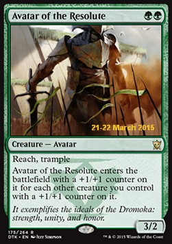 Avatar of the Resolute, Dragons Of Tarkir: Promos