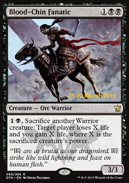 Blood-Chin Fanatic, Dragons Of Tarkir: Promos