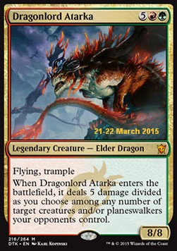 Dragonlord Atarka, Dragons Of Tarkir: Promos