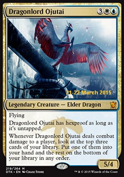 Dragonlord Ojutai, Dragons Of Tarkir Promos