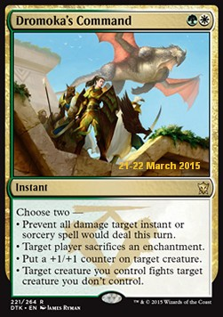 Dromoka's Command, Dragons Of Tarkir Promos