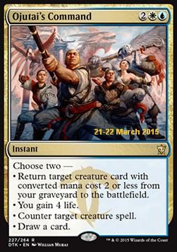 Ojutai's Command, Dragons Of Tarkir Promos