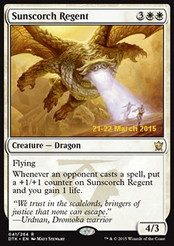 Sunscorch Regent, Dragons Of Tarkir Promos