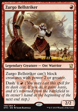 Zurgo Bellstriker, Dragons Of Tarkir: Promos