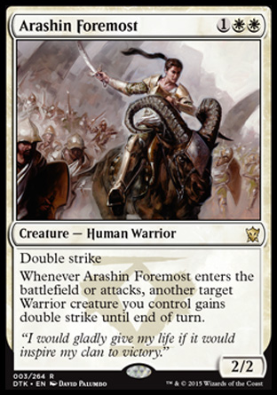 Arashin Foremost, Dragons of Tarkir