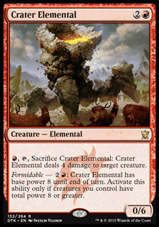 Crater Elemental, Dragons of Tarkir