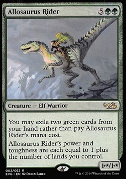 Allosaurus Rider, Duel Decks Anthology