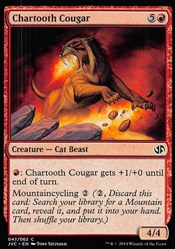 Chartooth Cougar, Duel Decks Anthology