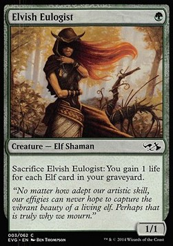 Elvish Eulogist, Duel Decks Anthology