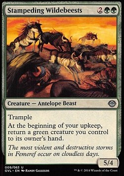 Stampeding Wildebeests, Duel Decks Anthology