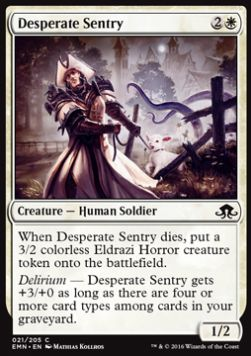 Desperate Sentry, Eldritch Moon