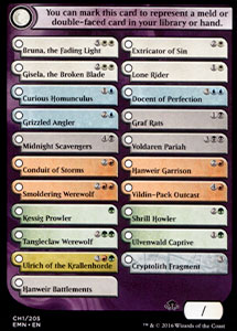 Double-Faced Card Proxy Checklist, Eldritch Moon