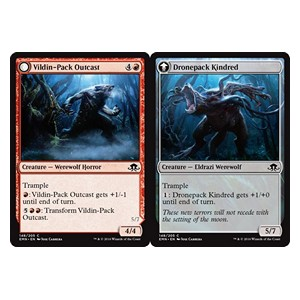 Vildin-Pack Outcast / Dronepack Kindred, Eldritch Moon