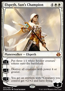 Elspeth, Sun's Champion, Elspeth vs Kiora