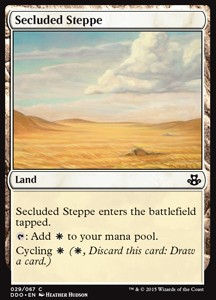 Secluded Steppe, Elspeth vs Kiora