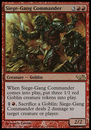 Siege-Gang Commander, Elves vs Goblins