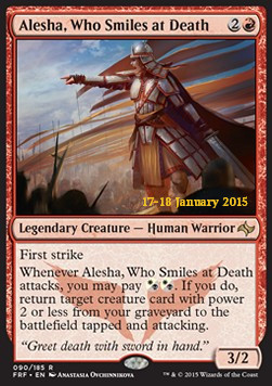 Alesha, Who Smiles at Death, Fate Reforged: Promos